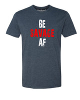 Be Savage AF - T-Shirt - Men - Navy