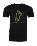 I Believe in BigFoot - T-Shirt - Men - Black