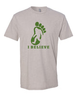 I Believe in BigFoot - T-Shirt - Men - Light Cream