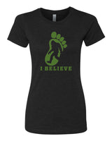 I Believe in BigFoot - T-Shirt - Women - Black