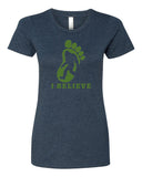 I Believe in BigFoot - T-Shirt - Women - Navy