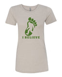 I Believe in BigFoot - T-Shirt - Women - Light Cream