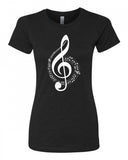 The G Clef is the beginning - T-Shirt - Women - Black