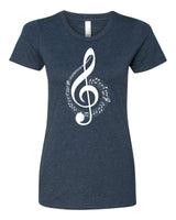 The G Clef is the beginning - T-Shirt - Women - Navy