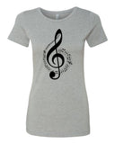 The G Clef is the beginning - T-Shirt - Women - Gray