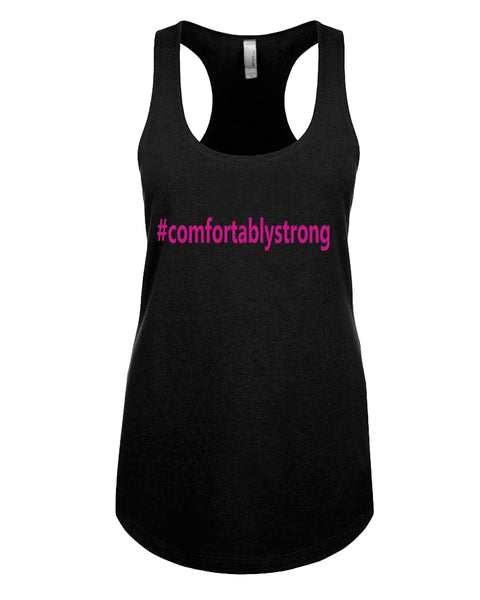 Comfortably Strong - Racerback - Women - Black