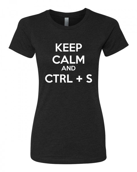Keep Calm and CTRL + S - T-Shirt - Women - Black
