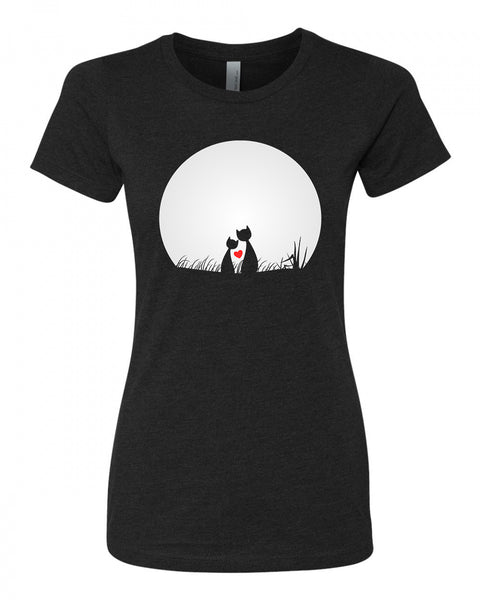 Cat's Love - T-Shirt - Women - Black