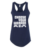 Choose you Weapon - Racerback - Women - Navy
