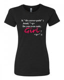 Do you even code Girl? - T-Shirt - Women - Black