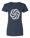 Crop Circle Milk Hill - T-Shirt - Women - Navy