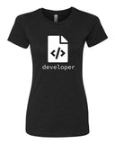 HTML Developer - T-Shirt - Women - Black
