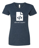 HTML Developer - T-Shirt - Women - Navy
