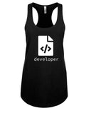 HTML Developer - Racerback- Women - Black