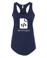 HTML Developer - Racerback - Women - Navy