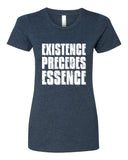 Existence Precedes Essence - T-Shirt - Women - Navy
