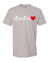 Love who you Love - T-Shirt - Men - Light Cream
