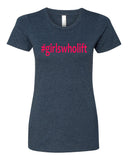 Girls who Lift - T-Shirt - Women - Navy