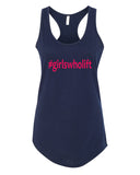 Girls who Lift - Racerback - Women - Navy