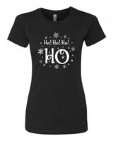 Ho! Ho! Ho! HO - T-Shirt - Women - Black