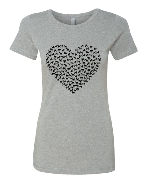 Heart of Dogs - T-Shirt - Women - Gray