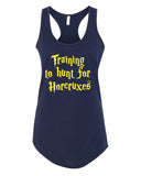 Training to hunt for Horcruxes - Racerback - Women - Navy