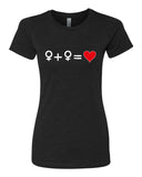 Love who you Love - T-Shirt - Women - Black