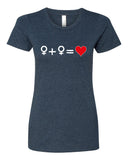 Love who you Love - T-Shirt - Women - Navy