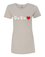Love who you Love - T-Shirt - Women - Light Cream
