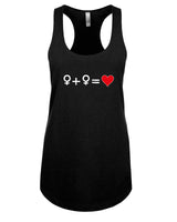 Love who you Love - T-Shirt - Racerback - Black