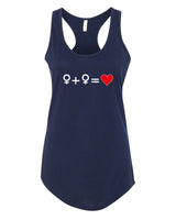 Love who you Love - T-Shirt - Racerback - Navy