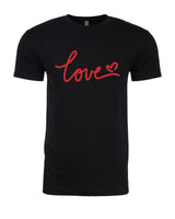 Love - T-Shirt - Men - Black