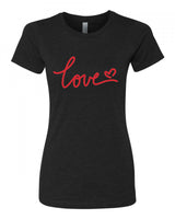 Love - T-Shirt - Women - Black