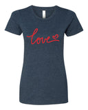Love - T-Shirt - Women - Navy