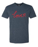 Love - T-Shirt - Men - Navy