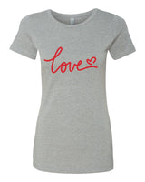 Love - T-Shirt - Women - Gray
