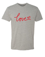 Love - T-Shirt - Men - Gray