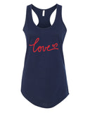 Love - Racerback - Women - Navy