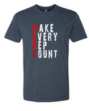 Make Every Rep Count - T-Shirt - Men - Navy