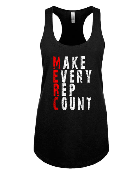 Make Every Rep Count - Racerback - Women - Black