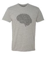 Fill your Brain with Music - T-Shirt - Men - Gray