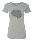 Fill your Brain with Music - T-Shirt - Women - Gray