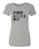 Nerds Kick Ass - T-Shirt - Women - Gray