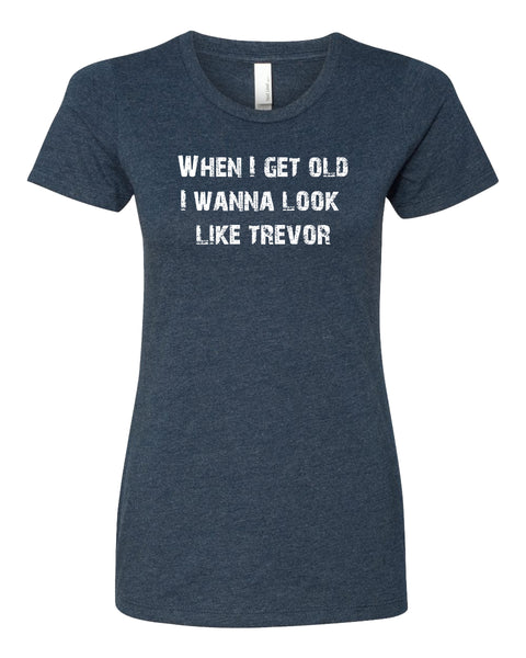 Young Trevor, Old Trevor - T-Shirt - Women - Navy