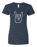 Show me your horns! - T-Shirt - Women - Navy