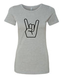 Show me your horns! - T-Shirt - Women - Gray
