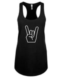 Show me your horns! - Racerback - Women - Black