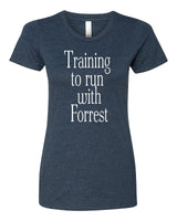 Training to run with Forrest - T-Shirt - Women - Navy