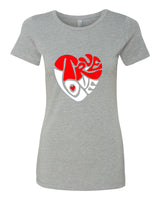 True Love - T-Shirt - Women - Gray