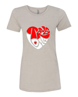 True Love - T-Shirt - Women - Light Cream